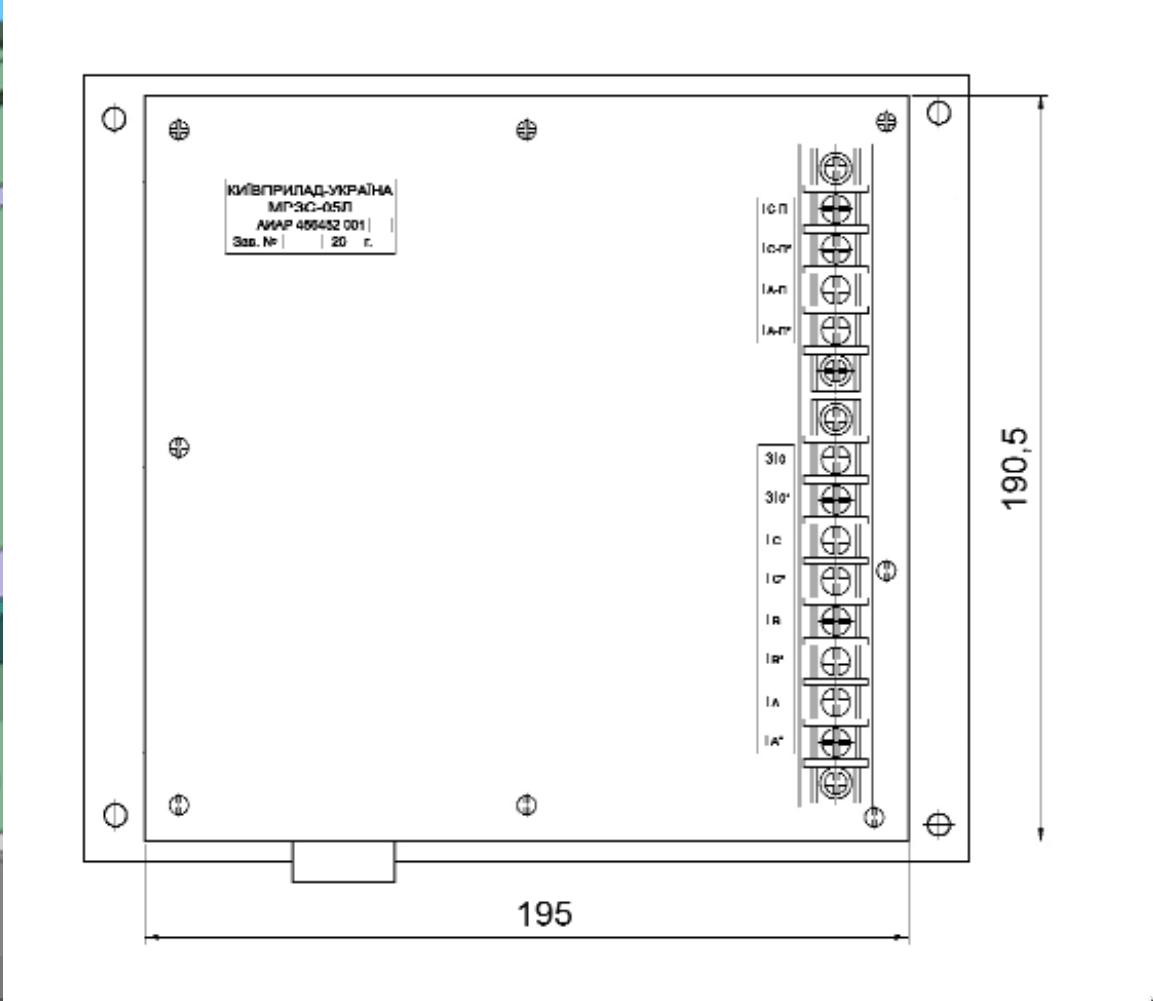 Вид сзади МРЗС-05Л АИАР.466452.001-13 (-33)