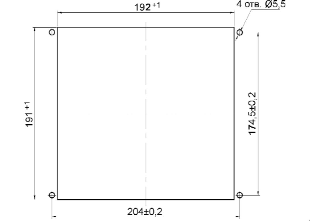 Разметка панели под установку устройства МРЗС-05Л АИАР.466452.001-13 (-33)