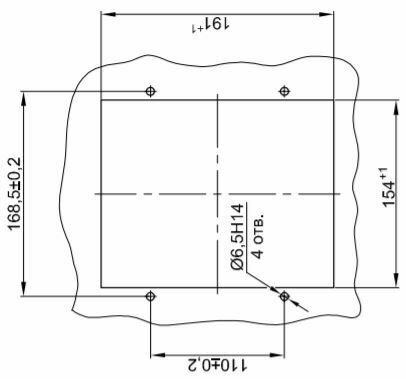 Layout of the board for installation MRZS-05L_m board