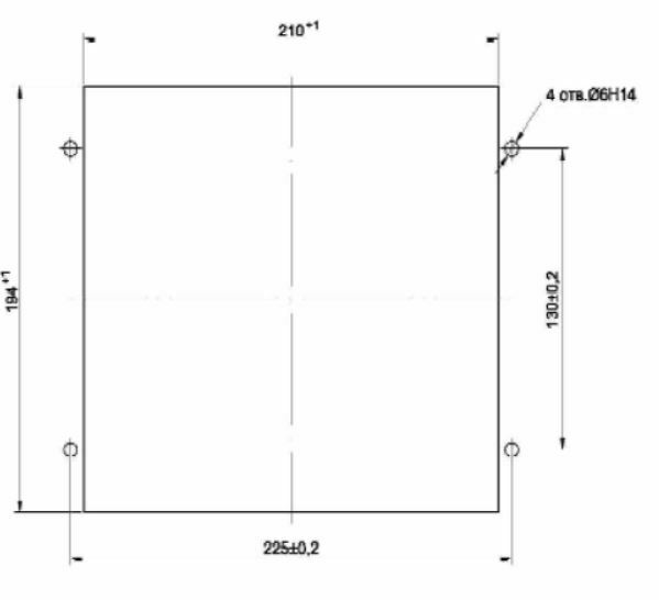 markup of board (panel) for installation of MRZS-05D